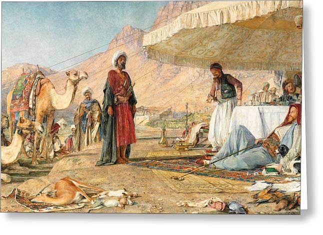 Greeting Card featuring the photograph John Frederick Lewis Mount Sinai 1842 by Munir Alawi
