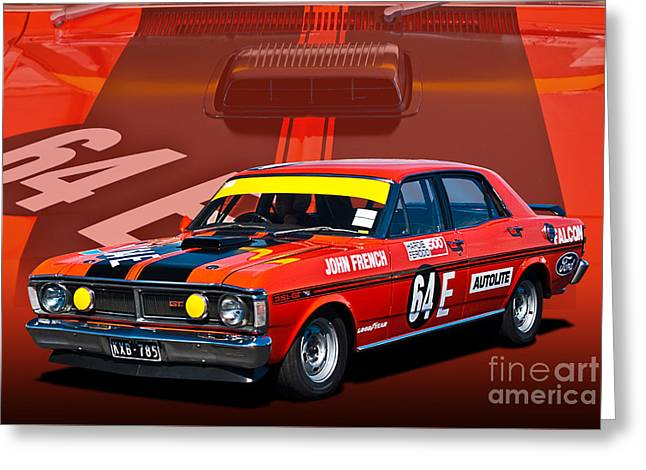 John French Xy Falcon 351 Gtho Greeting Card