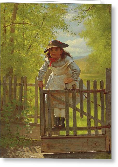John George Brown The Tomboy 1873 Greeting Card by Movie Poster Prints