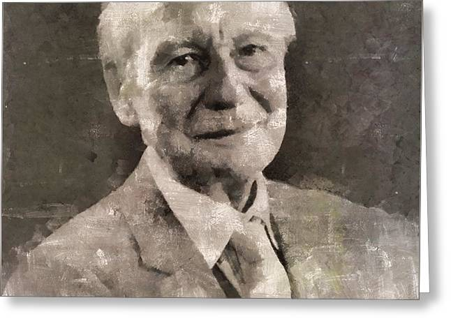 John Gielgud, Actor Greeting Card