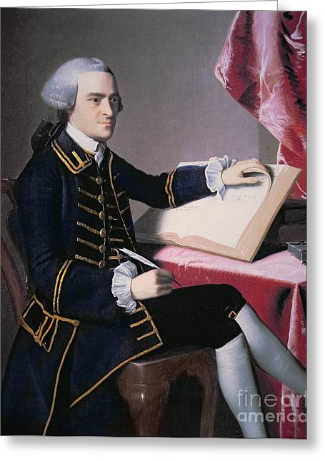 Second Continental Congress Greeting Cards - John Hancock Greeting Card by John Singleton Copley