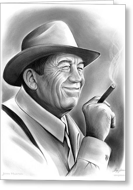 John Huston Greeting Card by Greg Joens