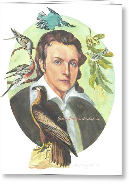John James Audubon Greeting Card by Kean Butterfield