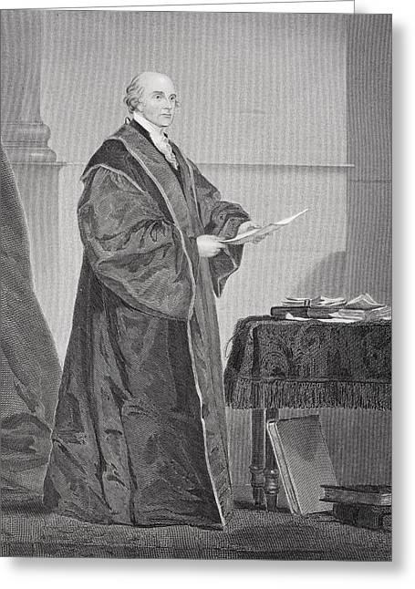 John Jay 1745 - 1829. U.s. Jurist And Greeting Card by Vintage Design Pics