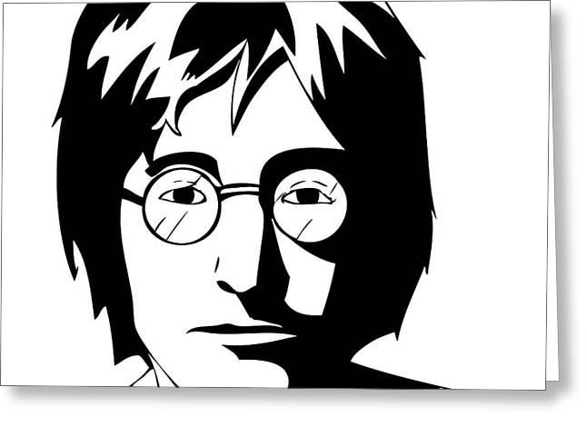John Lennon Greeting Card