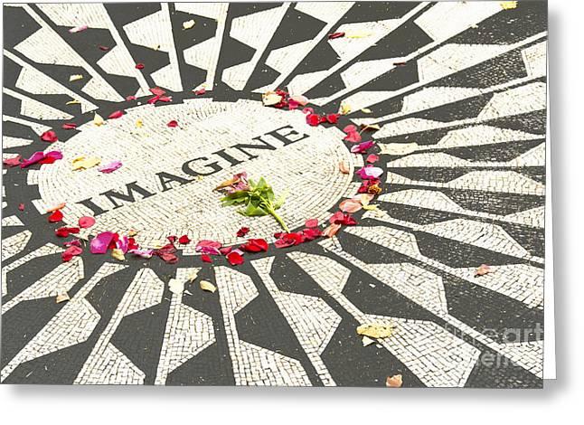 John Lennon Imagine Mosaic-central Park Greeting Card