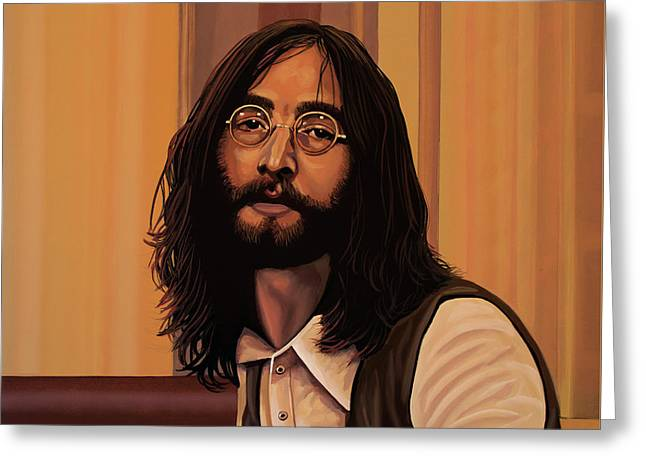 John Lennon Imagine Greeting Card by Paul Meijering