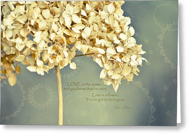 John Lennon Love Greeting Card