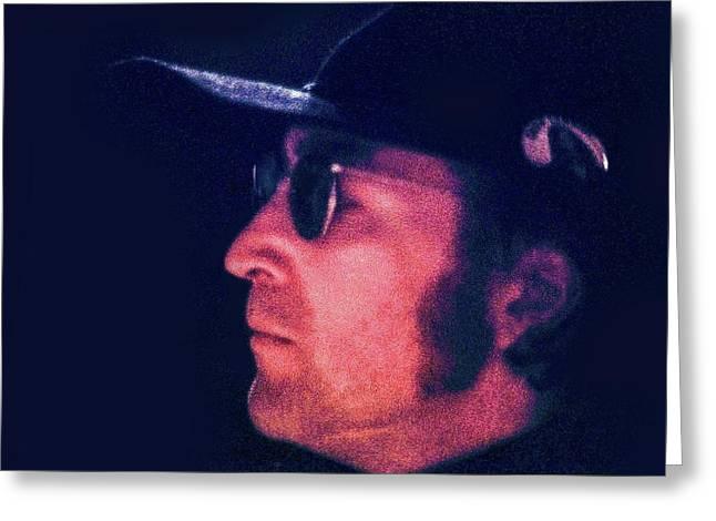 John Lennon, Rehearsal At Sgt. Pepper's Musical Greeting Card by Howard Dando
