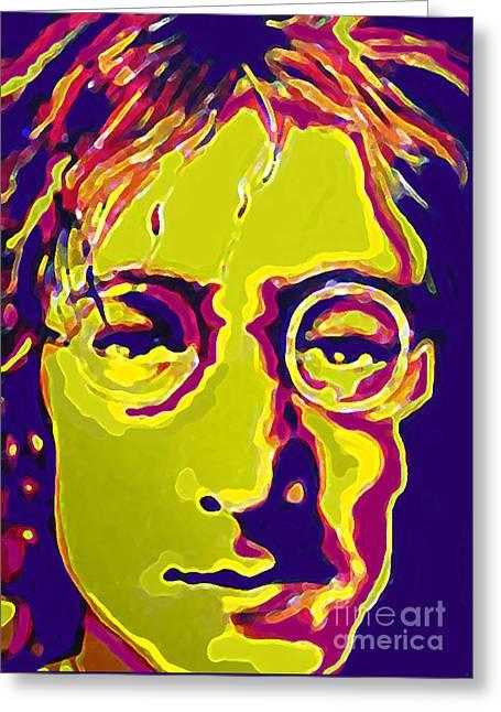 John Lennon The Beatles  Greeting Card by Margaret Juul
