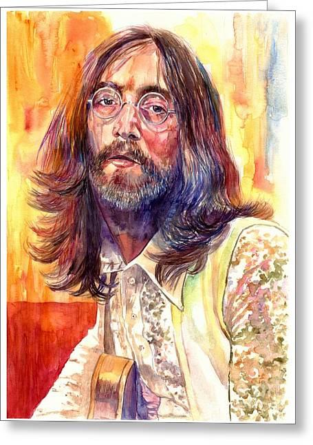 John Lennon Watercolor Greeting Card