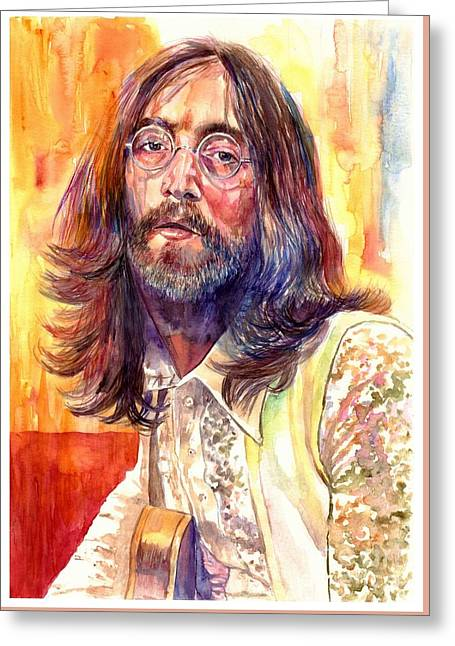John Lennon Watercolor Greeting Card