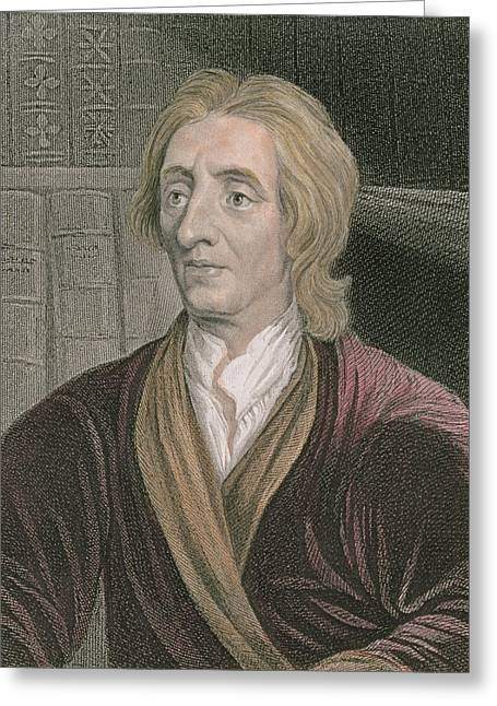 John Locke Greeting Card by Sir Godfrey Kneller