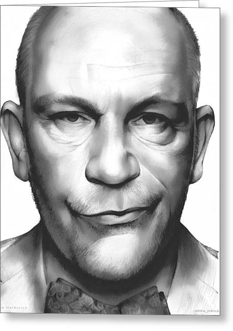 John Malkovich Greeting Card by Greg Joens