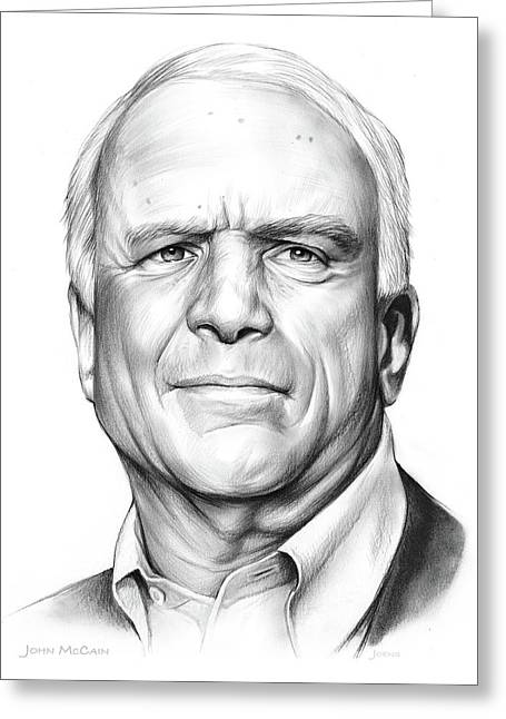 John Mccain Greeting Card by Greg Joens