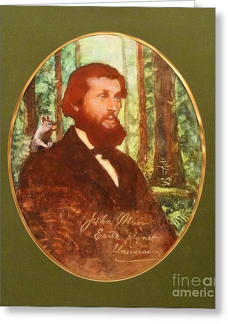 John Muir With Chip On His Shoulder Greeting Card by Kean Butterfield