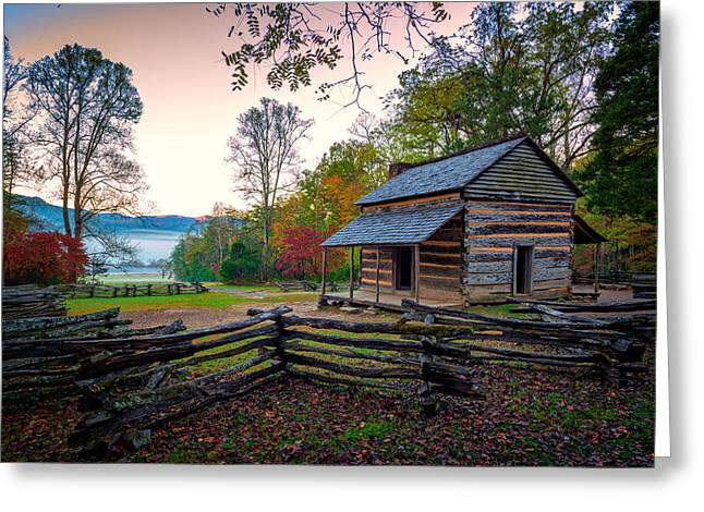 John Oliver Place In Cades Cove Greeting Card