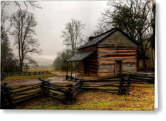 John Oliver's Cabin In Cades Cove Greeting Card