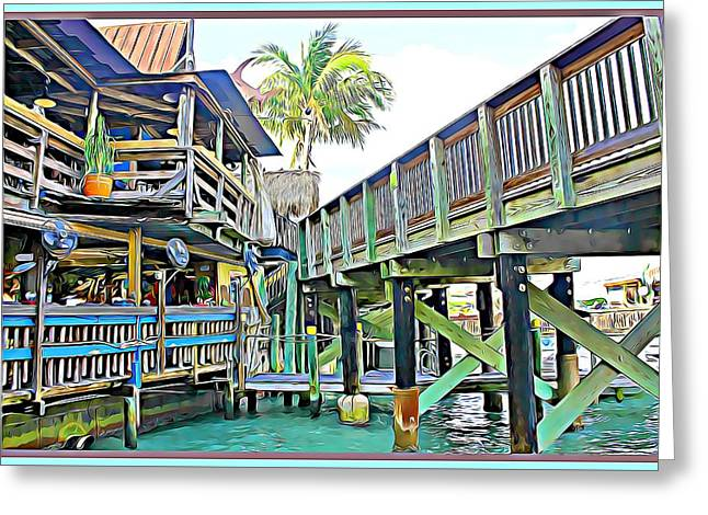 John Pass Florida Greeting Card by Mindy Newman