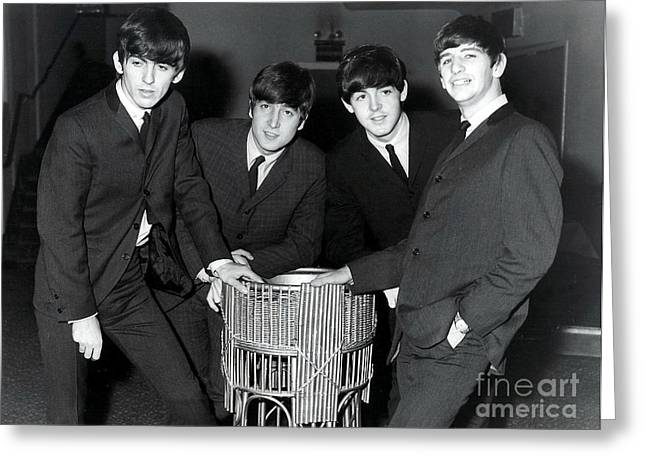 John Paul George And Ringo Greeting Card by Pd