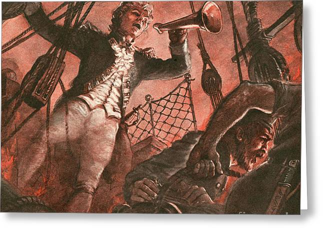 John Paul Jones, Founder Of The American Navy Greeting Card by Peter Jackson