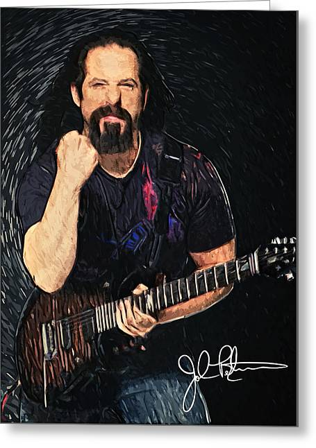 John Petrucci Greeting Card by Taylan Apukovska