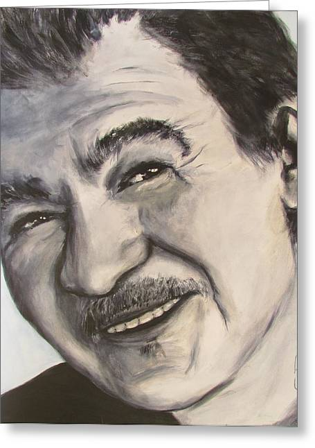 Greeting Card featuring the painting John Prine by Eric Dee