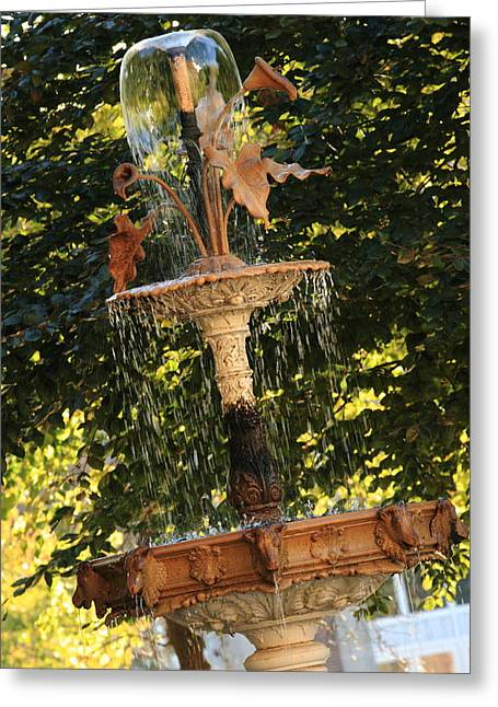 John Purdue Fountain In Color Greeting Card