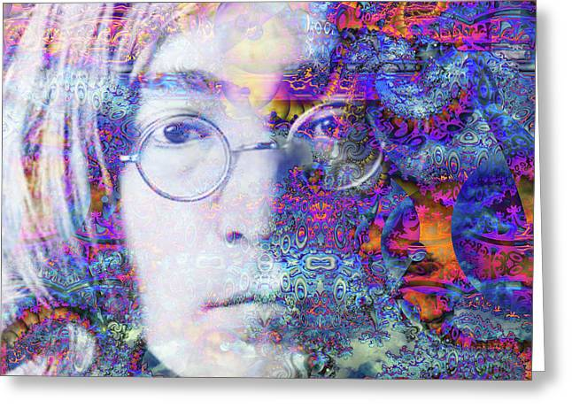 Greeting Card featuring the digital art John by Robert Orinski