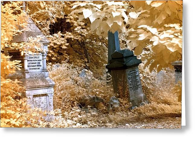 Autumnal Walk At Abney Park Cemetery Greeting Card