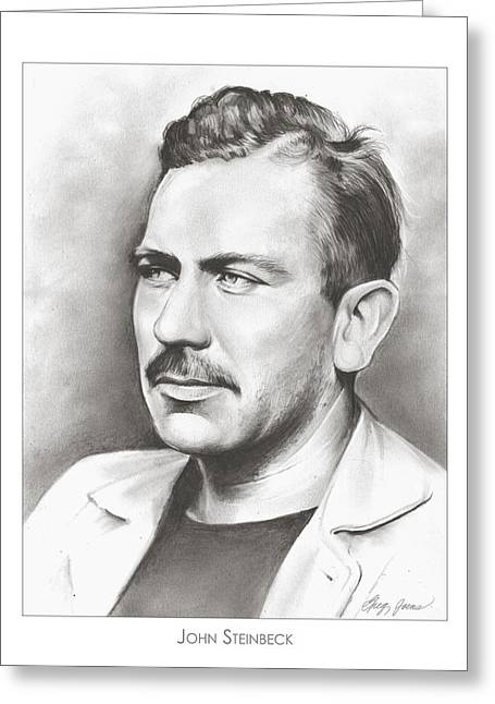 John Steinbeck Greeting Card by Greg Joens