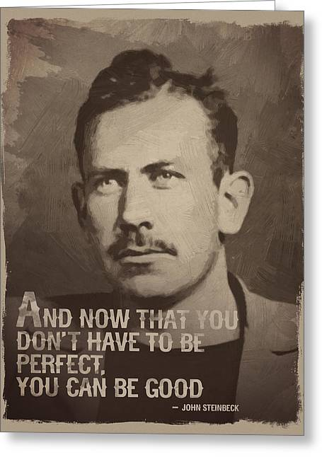 John Steinbeck Quote Greeting Card