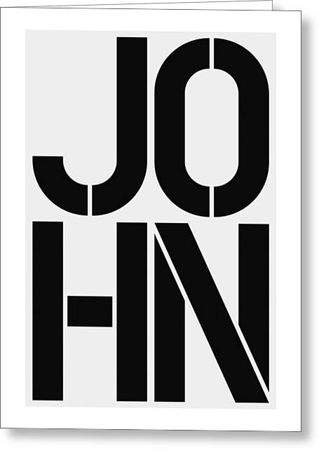 John Greeting Card by Three Dots