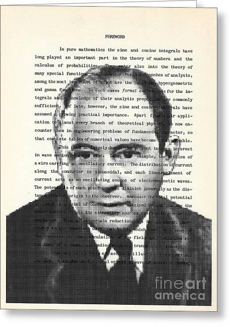 John Von Neumann Greeting Card by Igor Kislev