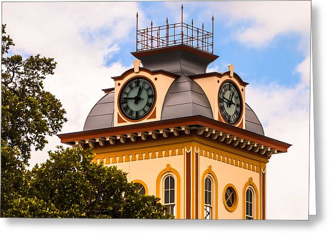 John W. Hargis Hall Clock Tower Greeting Card
