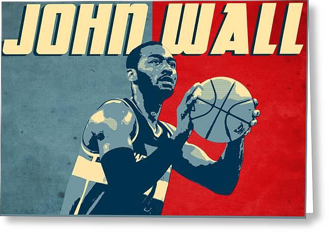 John Wall Greeting Card by Semih Yurdabak