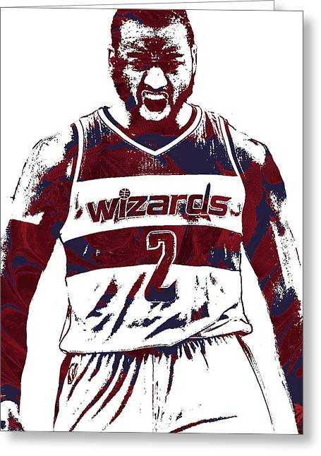 John Wall Washington Wizards Pixel Art 5 Greeting Card