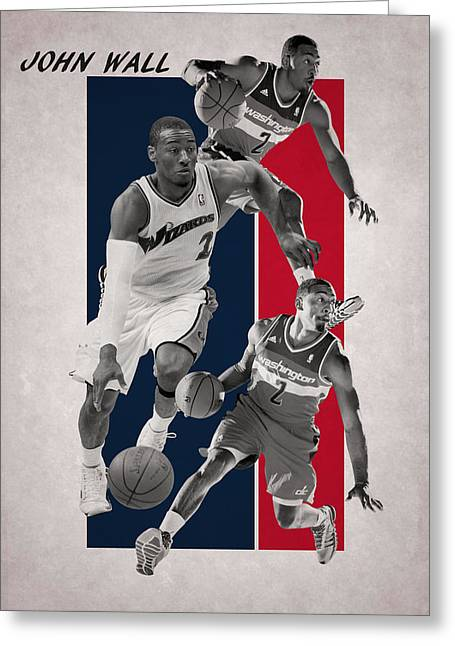John Wall Wizards Greeting Card by Joe Hamilton