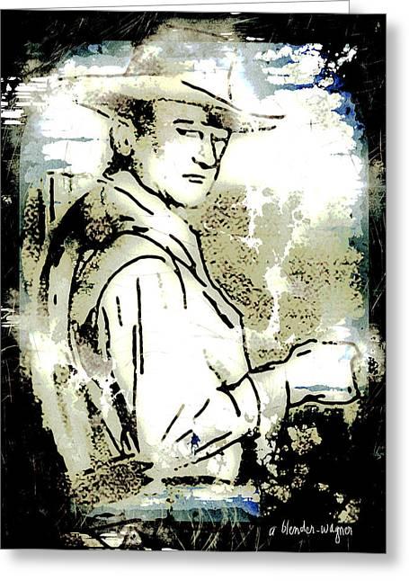 John Wayne Greeting Card by Arline Wagner