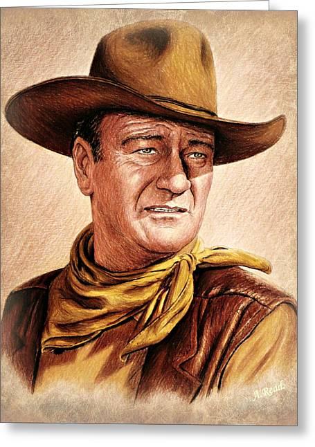 John Wayne Colour Version Greeting Card