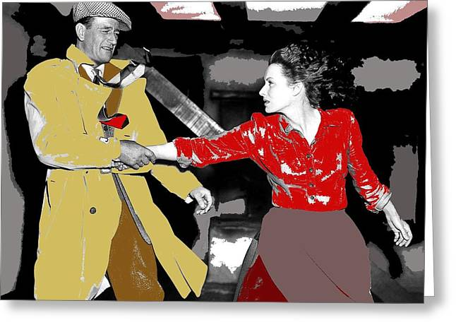 John Wayne Maureen Ohara The Quiet Man 1952-2015 Greeting Card by David Lee Guss