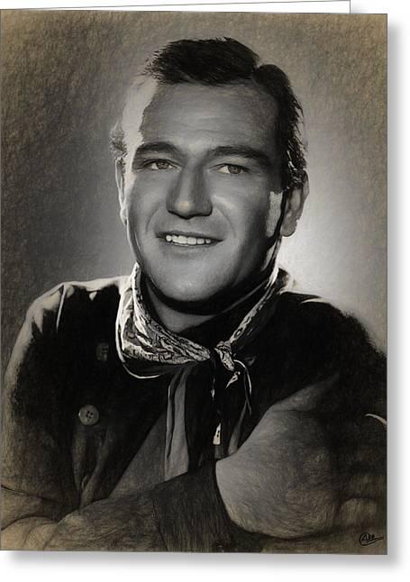 John Wayne Draw Greeting Card
