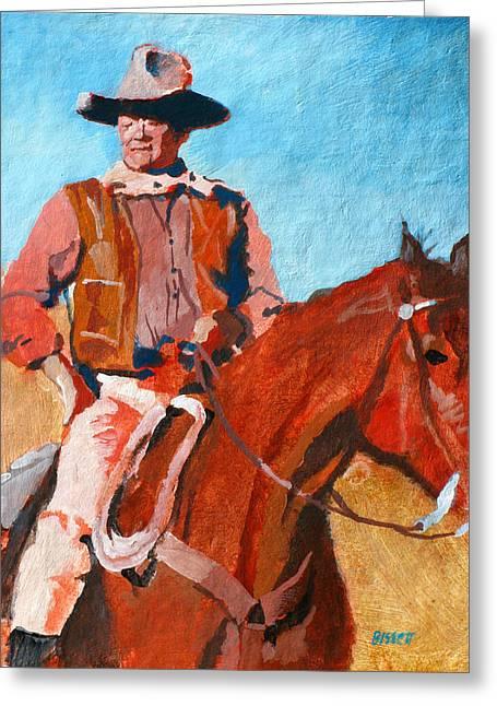 John Wayne Greeting Card by Robert Bissett