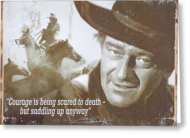 John Wayne - The Duke Greeting Card by Donna Kennedy