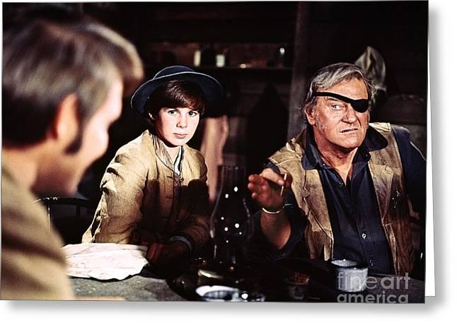 John Wayne - True Grit Greeting Card by The Titanic Project