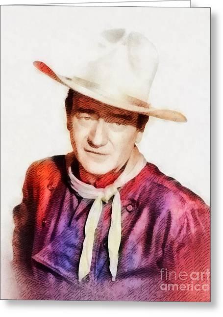 John Wayne, Vintage Hollywood Legend Greeting Card