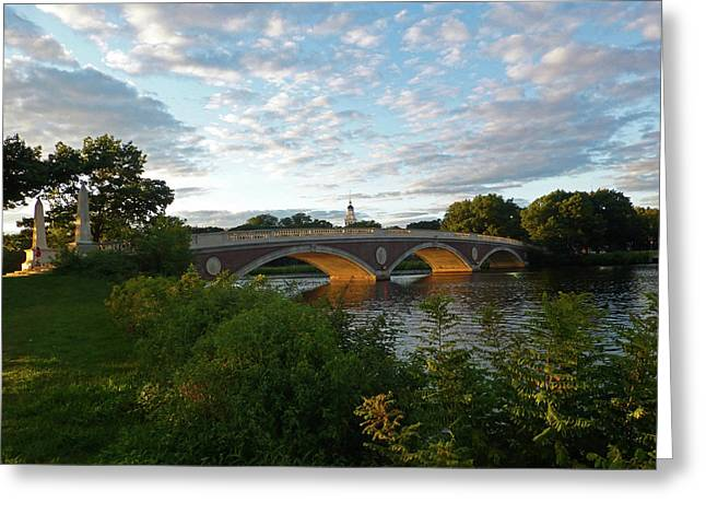 John Weeks Bridge In Harvard Square Cambridge Greeting Card