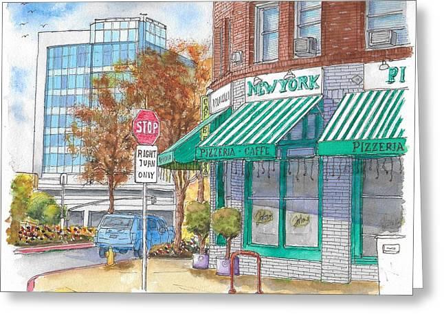 Johnnie's Pizzeria En Centrury City, California  Greeting Card