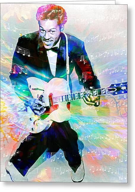 Johnny B. Goode Greeting Card by Mal Bray