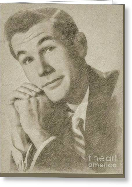 Johnny Carson, Entertainer Greeting Card